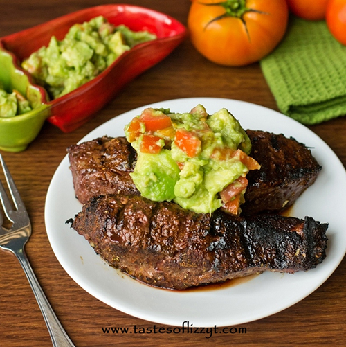 Mexican Steak & Avocado Salsa by Tastes of Lizzie T's