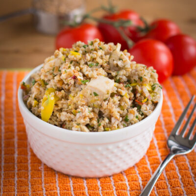 Summer Salad Recipe with Whole Grains and Chicken