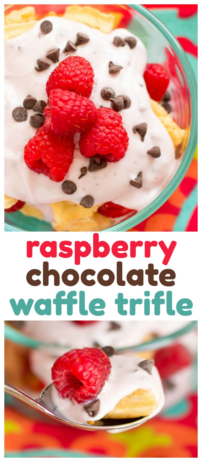 You are going to love this easy Breakfast Trifle Recipe, a tasty combination of yogurt, waffles, and fresh berriesthat will make you look forward to waking up! #waffles #trifle #yogurt #parfait #breakfast