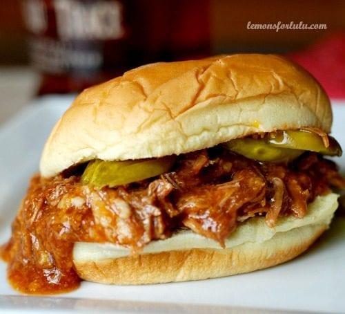 Bourbon BBQ Pulled Pork by Lemons for Lulu