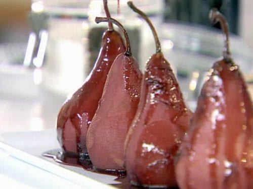 Spiced Red Wine Poached Pears by The Food Network
