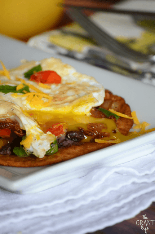 I am drooling thinking about these loaded breakfast tostadas!  (by The Grant Life, featured on The Weary Chef)
