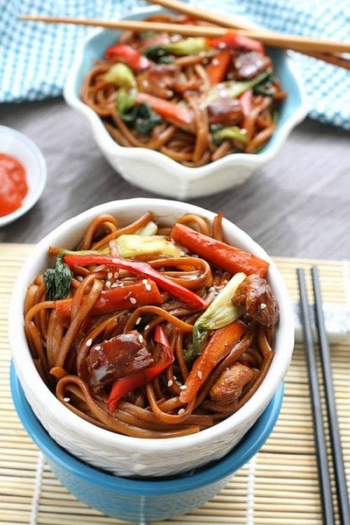 Slow Cooker Lo Mein (made with pork) by Life Made Sweeter