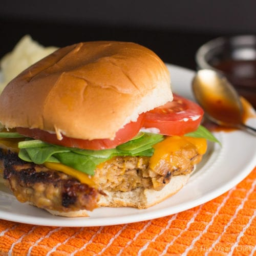 You'll love these BBQ Chicken Burgers with sauce and cheese cooked right in!