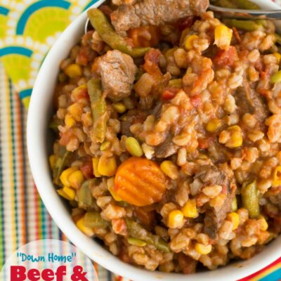 Down Home Beef Barley Soup