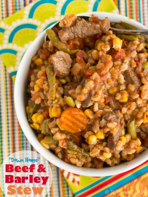 This warm, hearty beef barley soup loaded with vegetables is the best kind of comfort food!
