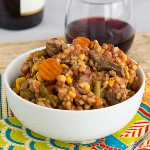 This warm, hearty soup loaded with vegetables, beef, and barley is the best kind of comfort food!