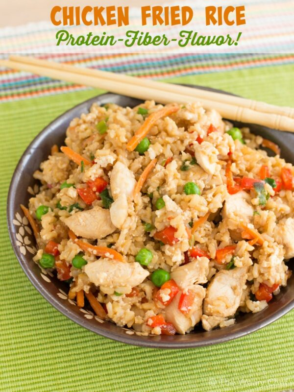 Protein loaded chicken fried rice recipe the weary chef this chicken fried rice made with egg whites and brown rice is a delicious easy ccuart Gallery