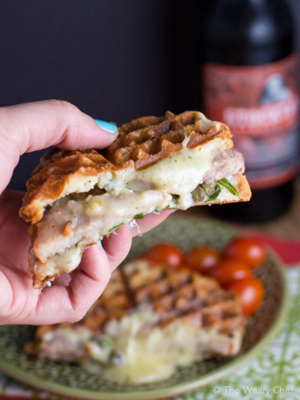 These grilled cheese sandwiches with rosemary pork are a sandwich lover's dream come true!