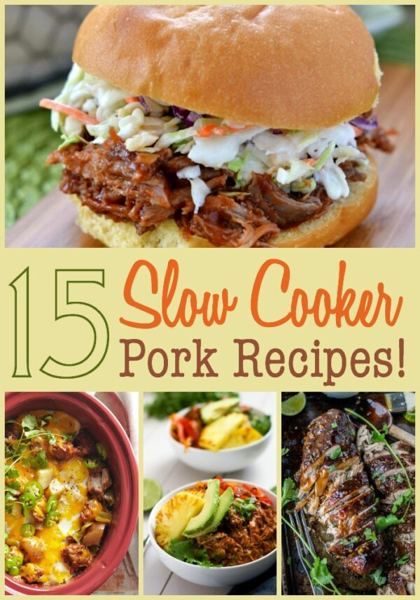 Make dinner easy AND delicious with these crockpot pork recipes!