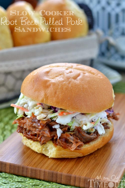Root Beer Pulled Pork Sandwiches by Mom on Timeout