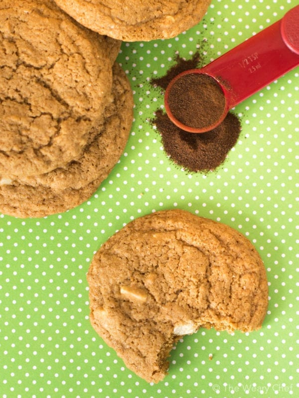 Take a bite of the rich, creamy taste of your favorite coffee drink in these White Chocolate Mocha Cookies!