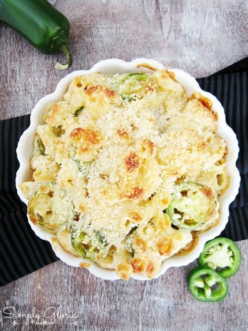 Creamy Havarti Jalapeño Macaroni and Cheese by Simply Gloria (Featured on The Weary Chef)