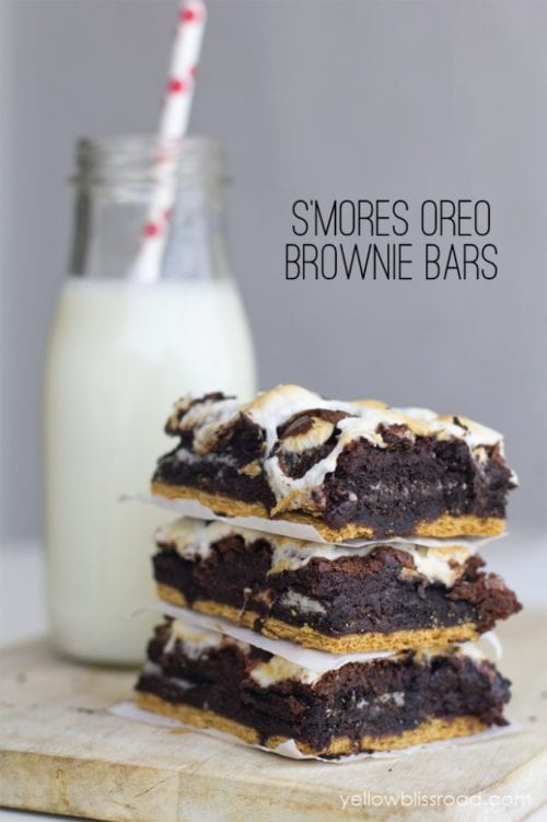 S'mores Oreo Brownie Bars - Yellow Bliss Road