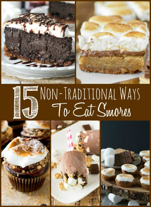 15 Non-Traditional Ways To Eat S'mores Roundup by Sprinkle Some Sugar - Featured on The Weary Chef