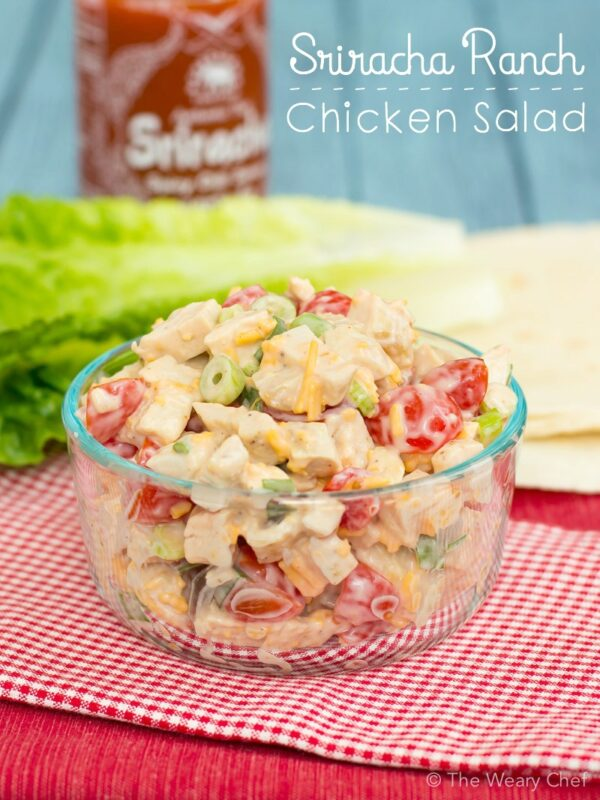 This easy chicken salad is a little spicy, a little tangy, and a lot delicious!