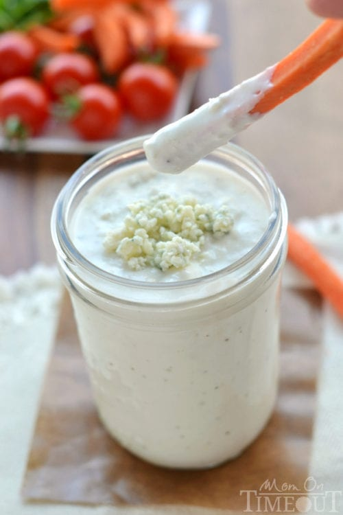 http://www.momontimeout.com/2014/09/blender-blue-cheese-dressing-recipe/