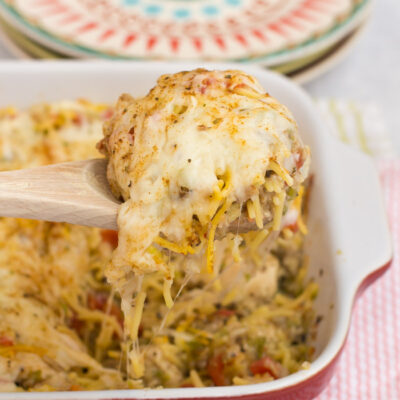 Baked Chicken Spaghetti Casserole Recipe
