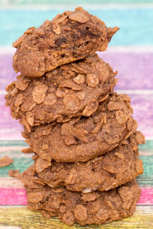 Cocoa cereal, chocolate chips, and chocolate pudding make these easy pudding cookies bursting with chocolate flavor!