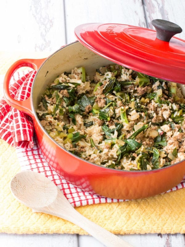 You'll love this healthy spin on the classic dirty rice recipe. Not only is it tasty and good for you, it's also a one-dish dinner!