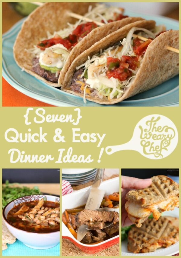 With kids home during the summer, parents are worn out and need extra easy dinner ideas! Find seven quick recipes in today's menu!