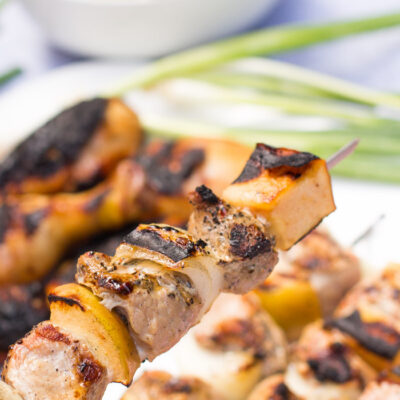 Mesquite Grilled Pork and Apple Kebabs