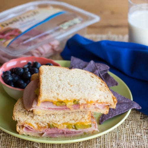 Save your sanity this summer with an easy toasted ham and cheese sandwich for dinner!