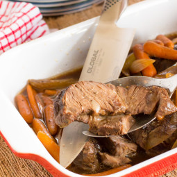 Molasses and Vinegar Crock Pot Beef Roast