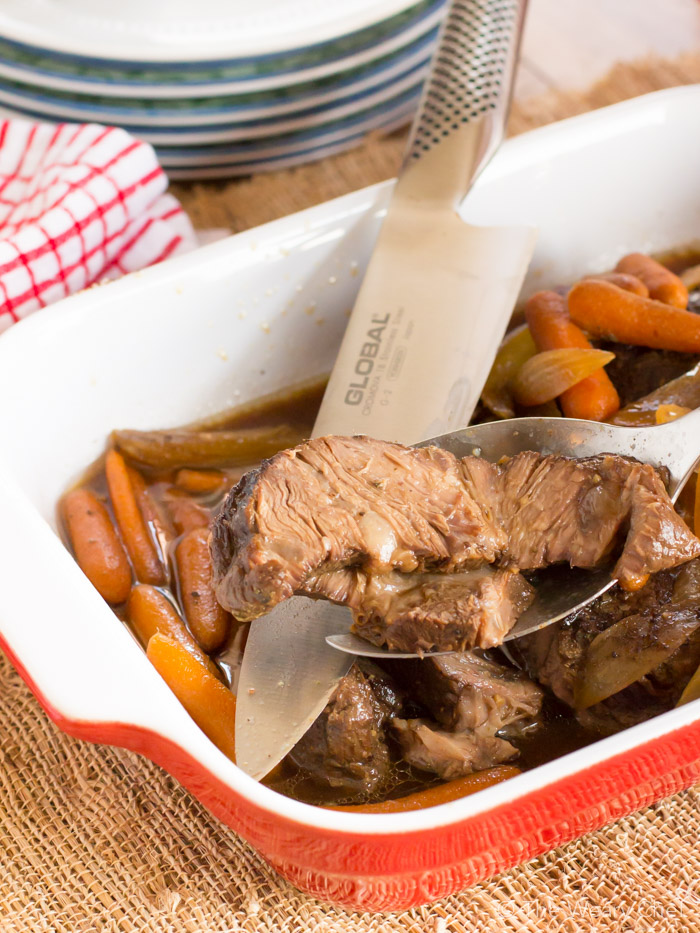 Molasses and Vinegar Crock Pot Beef Roast - The Weary Chef