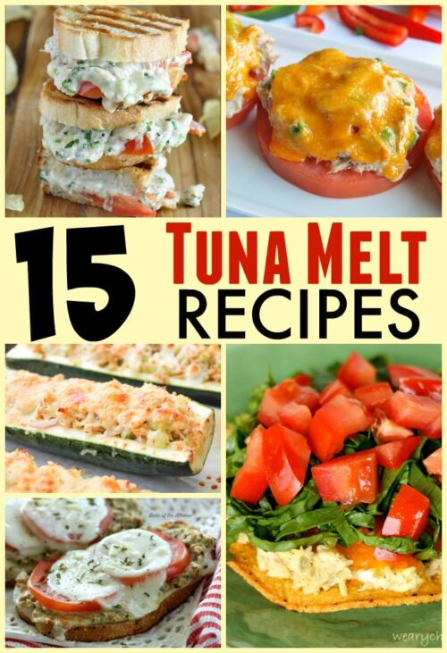 15 Tuna Melt Recipes featured on The Weary Chef