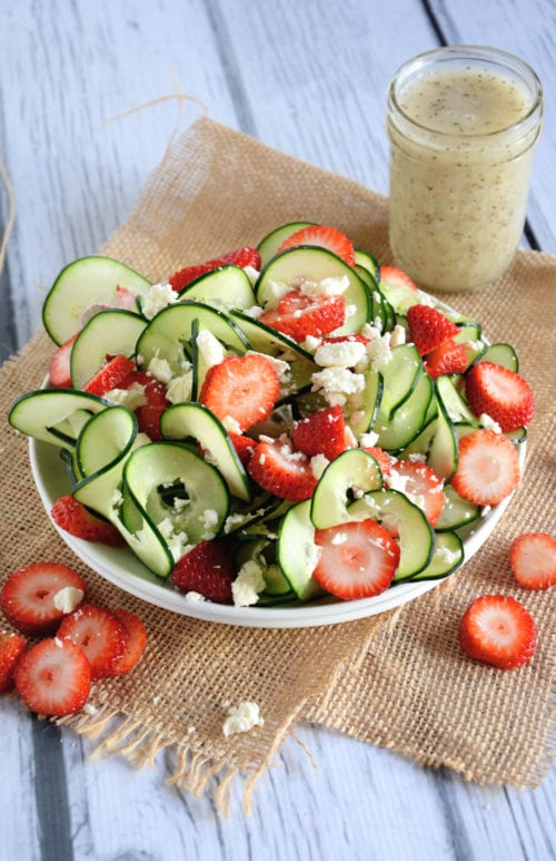 Cucumber and Strawberry Poppyseed Salad by The Housewife in Training Files