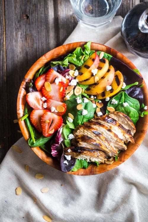 Strawberry Salad with Grilled Nectarines and Balsamic Vinegar by Julie's Eats and Treats