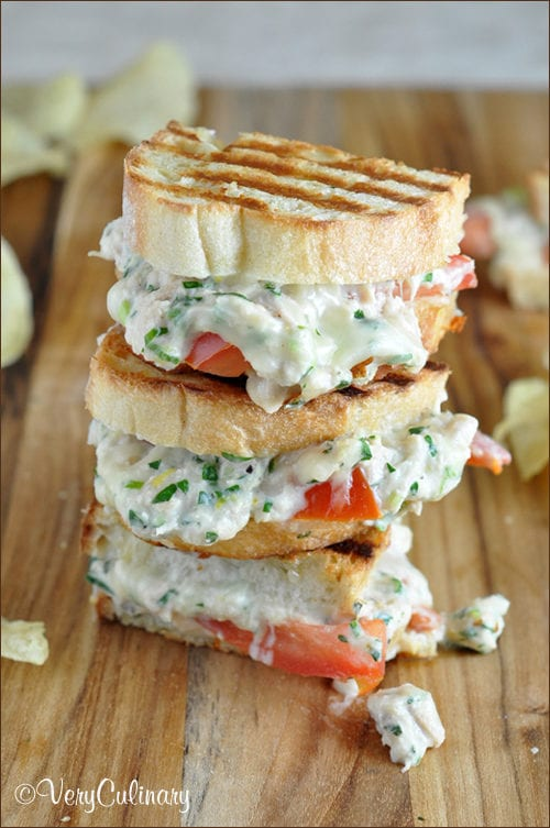 Lemony Herb Tuna Melts with Fontina by Very Culinary (Featured on The Weary Chef)