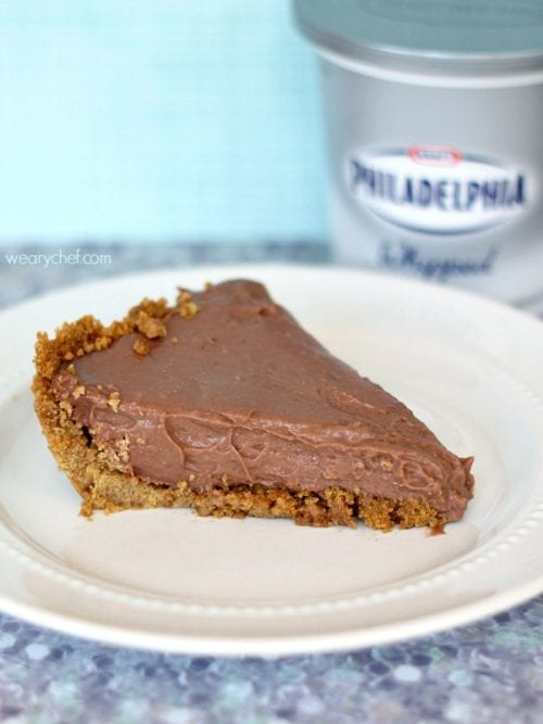 No-Bake Chocolate Cheesecake Pudding Pie - The Weary Chef