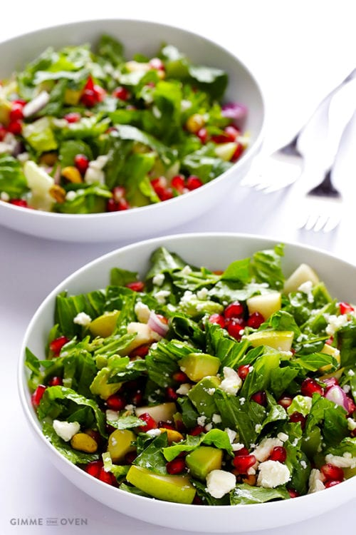 Pomegranate, Pear and Avocado Salad by Gimme Some Oven