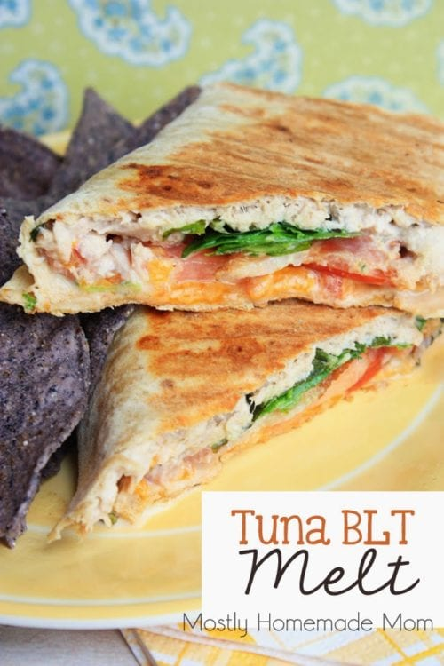 Tuna BLT Melt by Mostly Homemade Mom (Featured on The Weary Chef)