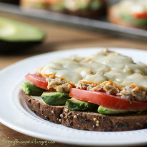 Avocado Tuna Melt by Dizzy Busy & Hungry (Featured on The Weary Chef)