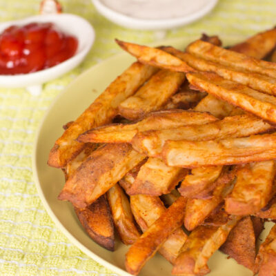 Oven Baked Battered Fries