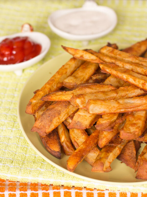 Get your french fry fix the healthy way with these baked battered fries!