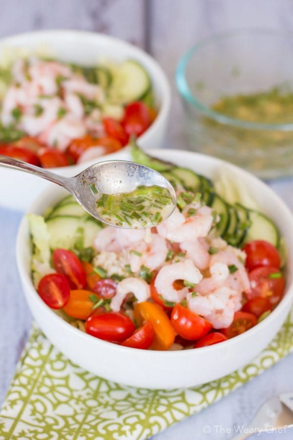 You'll love this lemony side salad recipe with crab and shrimp.