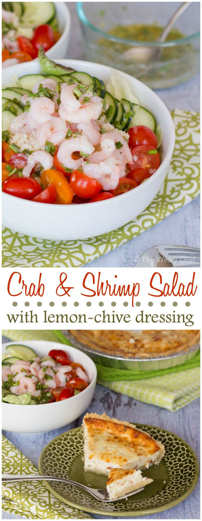 You'll love this lemony side salad recipe with crab and shrimp. Try it paired with quiche!