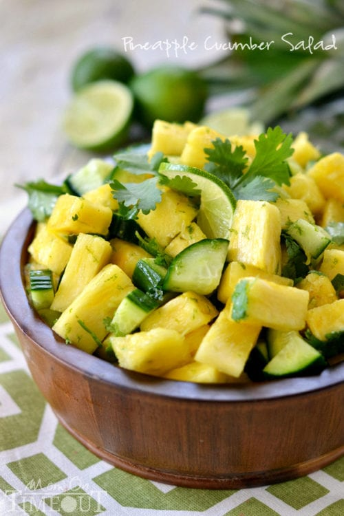 Pineapple Cucumber Salad by Mom on Timeout