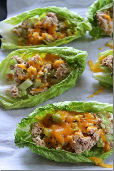 Tuna Melt Boats by Yes, I Want Cake (Featured on The Weary Chef)