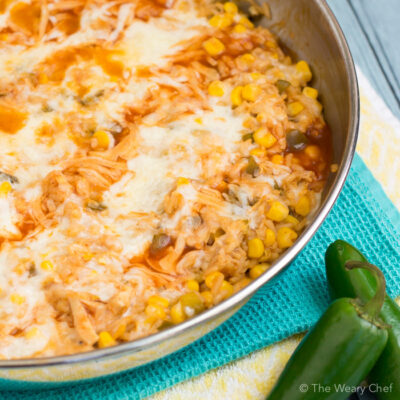 Pantry Enchilada Chicken Skillet Dinner Recipe
