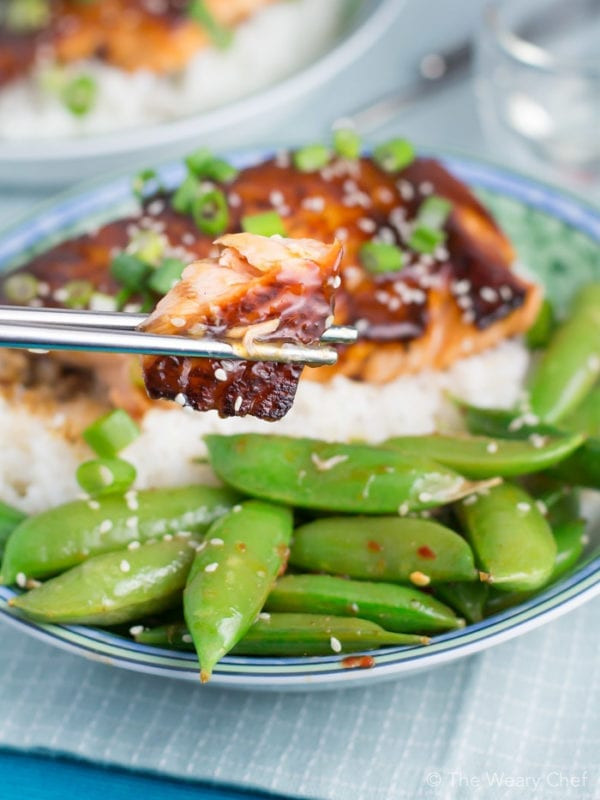 Enjoy this quick and easy salmon teriyaki for dinner this week!