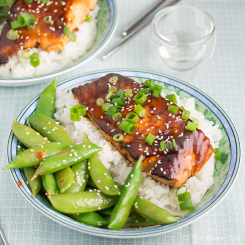 This quick and easy salmon teriyaki recipe tastes like it came from your favorite Japanese restaurant!