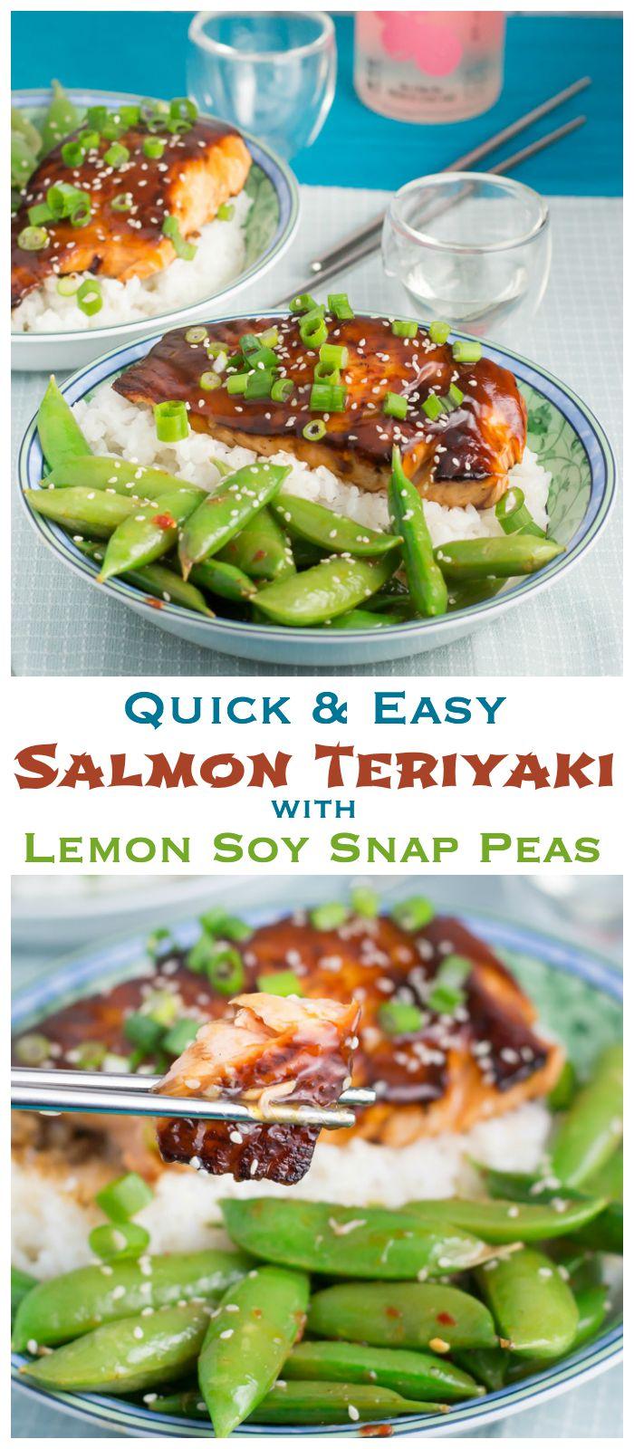 Teriyaki Salmon And Lemon Soy Snap Peas Dan330