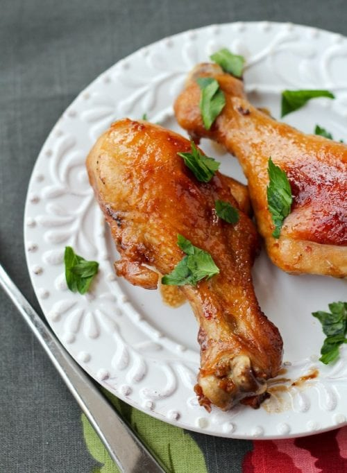 Soy and Honey Glazed Chicken Drumsticks by  Rachel Cooks