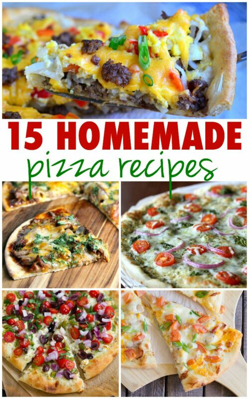 Spice up your pizza night with these 15 delicious homemade pizza recipes! With toppings like Buffalo Chicken, Philly cheesesteak, and even Macaroni and Cheese, you're sure to find a new favorite slice!