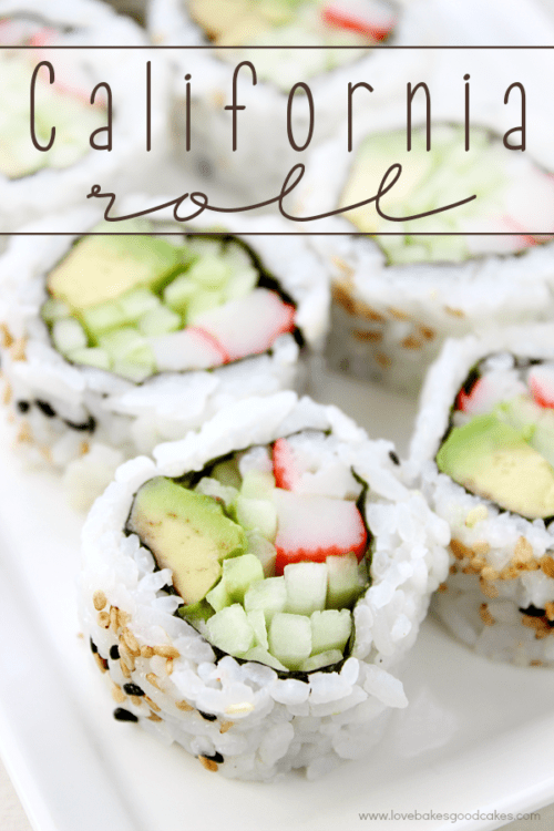California Roll by Love Bakes Good Cakes
